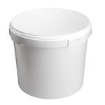 Image de Seau 25L blanc avec anses