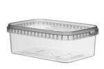 Image de TPR Pot rectangulaire 1000ml avec fermeture de sécurité couvercle compris