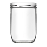 Image de Bocal en verre terrine 850ml TO100 transparent